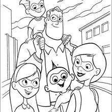 Coloriage Disney : Coloriage gratuit Indestructibles