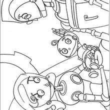 Coloriage de la famille Robot