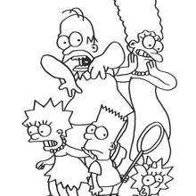 Coloriage de la famille Simpson