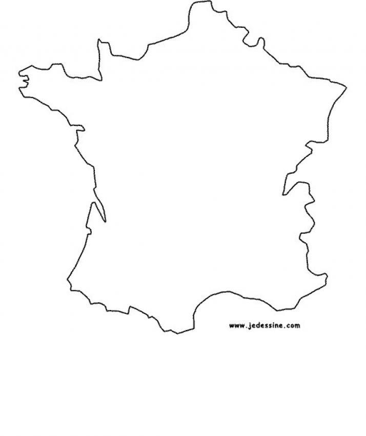 carte de france 0 colorier