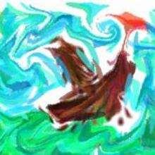 Dessin d'enfant : La grande tempête