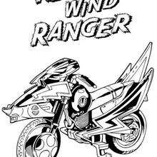 Coloriage de la moto des Power Rangers