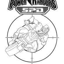 Coloriage Power Rangers : La moto du ninja
