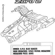 Coloriage Power Rangers : Navette Space Patrol Zord 2