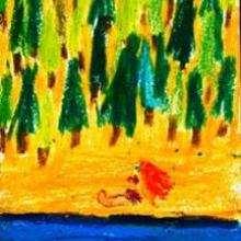 Dessin d'enfant : La Plage