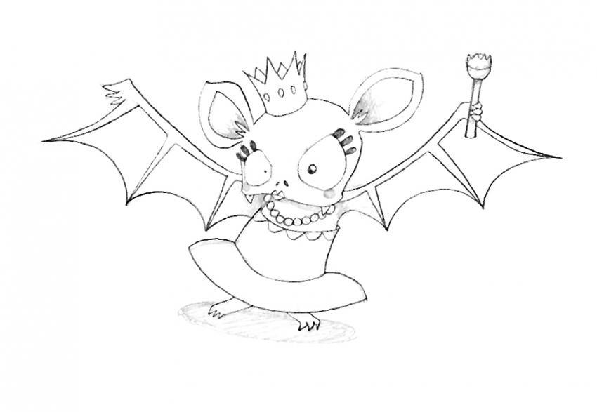Coloriages coloriage de la reine chauve souris fr - Dessin halloween chauve souris ...