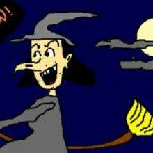 La sorcière (par Régis) - Dessin - Dessin FETES - Dessin HALLOWEEN - Dessin SORCIERE HALLOWEEN