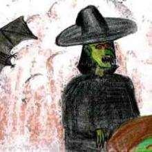 La sorcière verte - Dessin - Dessin FETES - Dessin HALLOWEEN - Dessin SORCIERE HALLOWEEN