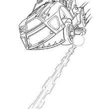 Coloriage de la voiture high tech - Coloriage - Coloriage DESSINS ANIMES - Coloriage ACTION MAN