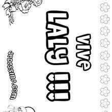 Laly - Coloriage - Coloriage PRENOMS - Coloriage PRENOMS LETTRE L