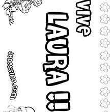 Laura - Coloriage - Coloriage PRENOMS - Coloriage PRENOMS LETTRE L