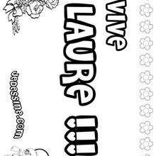 Laure - Coloriage - Coloriage PRENOMS - Coloriage PRENOMS LETTRE L
