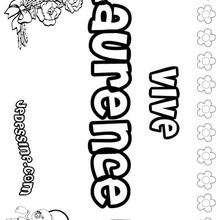 Laurence - Coloriage - Coloriage PRENOMS - Coloriage PRENOMS LETTRE L