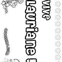 Lauriane - Coloriage - Coloriage PRENOMS - Coloriage PRENOMS LETTRE L