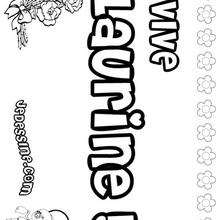 Laurine - Coloriage - Coloriage PRENOMS - Coloriage PRENOMS LETTRE L