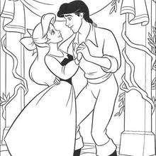 Coloriage Disney : Le Bal de la Petite Sirène