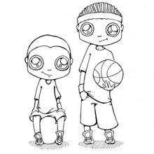 Coloriage sur le basket