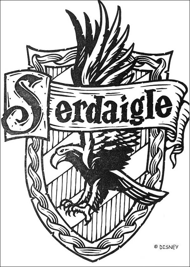 Coloriages le blason de serdaigle - Harry potter blason ...