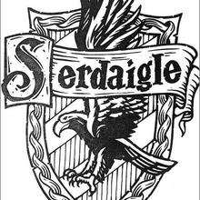 Coloriage Harry Potter : Le blason de Serdaigle
