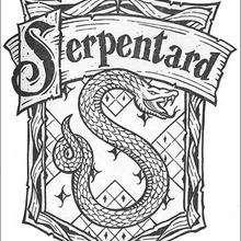 Coloriage Harry Potter du blason Serpentard - Coloriage - Coloriage FILMS POUR ENFANTS - Coloriage HARRY POTTER - Coloriage BLASON