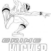 Coloriage Power Rangers : Saut de ninja : Crime Kicker