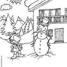 Un bonhomme de neige au soleil