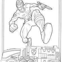 Coloriage du camion des power rangers - Coloriage - Coloriage DESSINS ANIMES - Coloriage POWER RANGERS - Coloriage POWER RANGERS A IMPRIMER