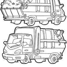 Coloriages Coloriage Du Camion Poubelle Frhellokidscom