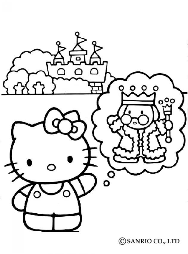 Coloriage du chateau du roi
