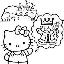 Coloriage du chateau du roi - Coloriage - Coloriage HELLO KITTY