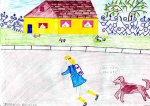 Le chemin de l'école en Roumanie - Dessin - A la découverte du Monde - En Europe
