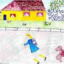 Le chemin de l'école en Roumanie - Dessin - Dessin PAYS - Dessin EUROPE - Dessin ROUMANIE