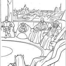 Coloriage STAR WARS du conseil des chevaliers Jedi