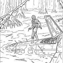 Coloriage STAR WARS du crash sur Dagobah - Coloriage - Coloriage FILMS POUR ENFANTS - Coloriage STAR WARS - Coloriage STAR WARS GRATUIT