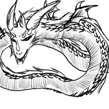 Dessin d'enfant : Le dragon d'Amandine