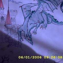 Dessin d'enfant : Le dragon d'Aurélie