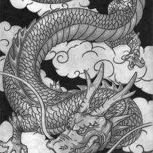 Dessin d'enfant : Le dragon de Guech