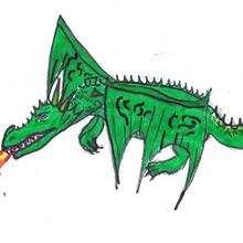Dessin d'enfant : Le dragon de Melitine