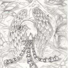 Dessin d'enfant : Le dragon phoenix