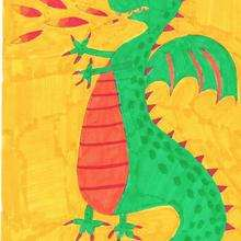 Dessin d'enfant : Le dragon de Titouan