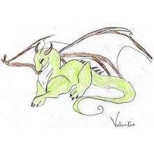 Dessin d'enfant : Le dragon de Valentin