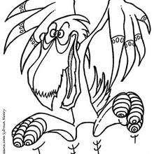Coloriage d'un dragon pélican - Coloriage - Coloriage GRATUIT - Coloriage GRATUIT MONSTRE - Coloriage MONSTRE A IMPRIMER