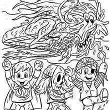 Coloriage d'un dragon - Coloriage - Coloriage FETES - Coloriage HALLOWEEN - Coloriage HALLOWEEN A IMPRIMER