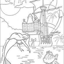 Coloriage Disney : Feu d'artifices