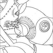 Coloriage du gros robot