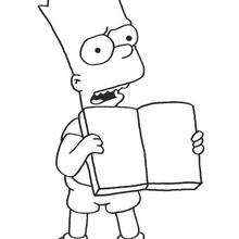 Coloriage du livre de Bart - Coloriage - Coloriage DESSINS ANIMES - Coloriage SIMPSON - Coloriage BART SIMPSON
