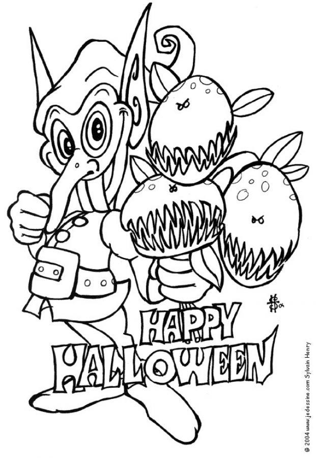 Coloriages coloriage d 39 un lutin - Dessin monstre halloween ...