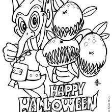 Coloriage d'Halloween : Coloriage d'un lutin