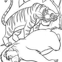 Coloriage Disney : Coloriage du méchant Shere Khan