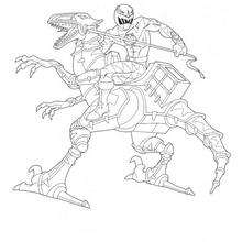 Coloriage Power Rangers : Dino Robot